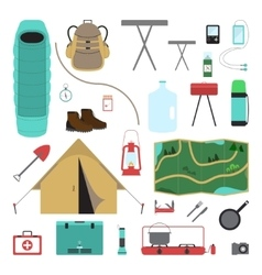 Camping Icon Set vector image