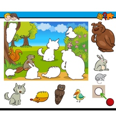 cartoon game for kids vector image