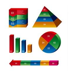 charts and diagrams vector image