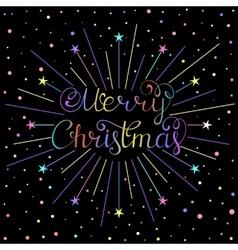 christmas inscription with rays vector image