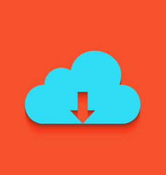 Cloud technology sign whitish icon on vector