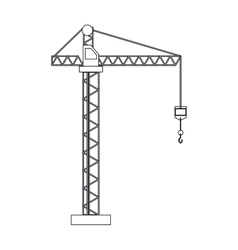 crane hook construction machine outline vector image