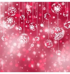 Elegant red christmas background eps 8 vector