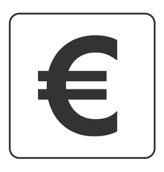 Euro sign symbol of currency finance business and vector