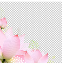 floral border vector image