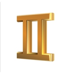 Golden zodiac sign Gemini vector image vector image