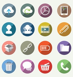 icons set for web and user interface vector image