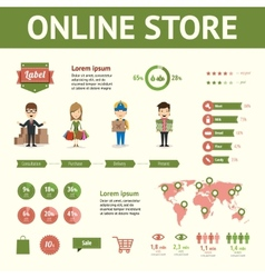 Market and buying infographic elements vector image