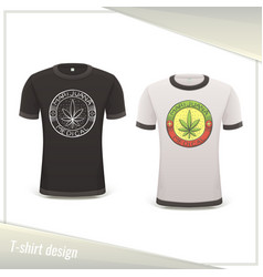 Medical marijuana tshirt four vector