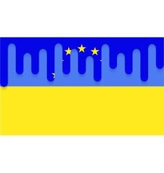 Modern ukraine flag background eps 10 vector