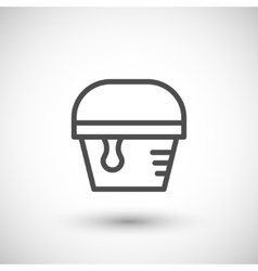 Paint bucket line icon vector