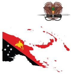 Papua New Guinea Flag vector image