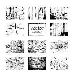 Set wooden background vector image