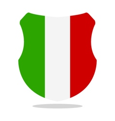 Shield with flag of italy vector