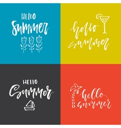 Summer lettering design vector