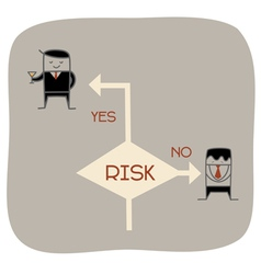 Take a risk vector image vector image