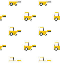 Yellow truck to lift cargo pattern flat vector
