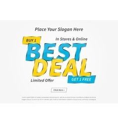 Banner best deal on grey vector