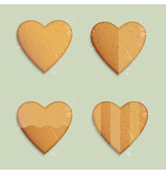 Hearts shapes cookies vector