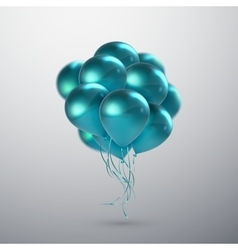Turquoise Balloon Bunch vector image
