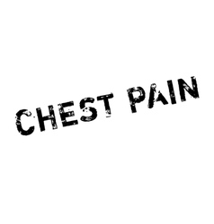 Chest pain rubber stamp vector