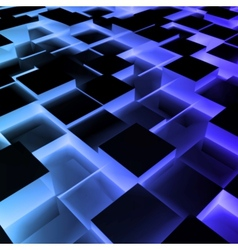 Disco Abstract blue Square Box vector image