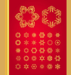 Original christmas decoration set vector