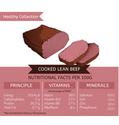 healthy collection meat vector image