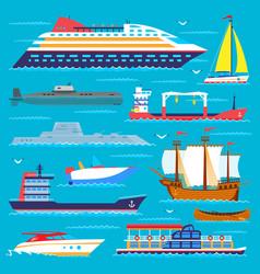 Ship cruiser boat sea transport symbol vessel vector