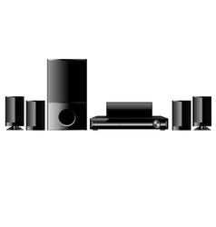 Dvd home theater vector