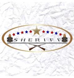 Sherif-6 vector image