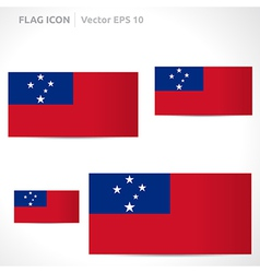 Samoa flag template vector