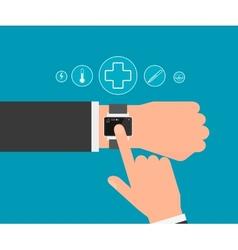 Smart wristwatch vector