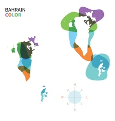 Abstract color map of bahrain vector