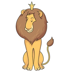 Cartoon lion royal vector