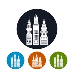 Icon modern big city vector