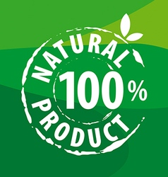 Logo for organic food on a green background vector