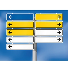 Blank german directional signs vector