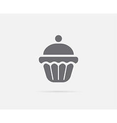 Cake cupcake cream cherry element or icon ready vector