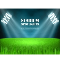 Stadium spotlights concept vector