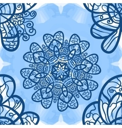 Seamless mandala-like elegant ornate pattern on vector