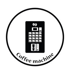 Coffee selling machine icon vector
