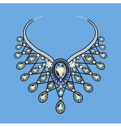 a womans necklace of beads vector image vector image