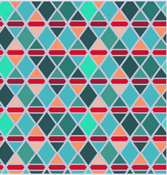abstract triangle and rhombus seamless pattern vector image
