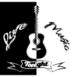 Black and white acoustic vector image