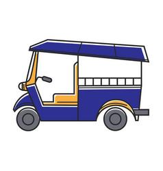 Blue public rickshaw vector