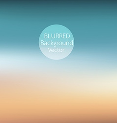 blurred background sunset on the beach vector image