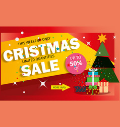 christmas sale banner advertising background vector image vector image