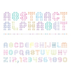 Colorful abstract alphabet with numbers vector
