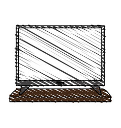 Flat screen tv icon image vector